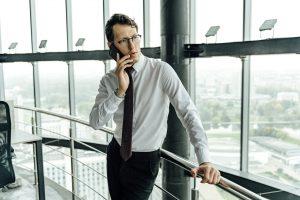 realtor making a phone call